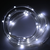 Battery Operated Waterproof LED Tube Light String 6ft. - White