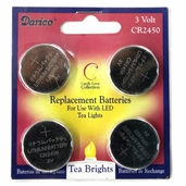 Battery Replacement Lithium Button Cell Coin Batteries High Power Battery - CR2450 3V Tealight Batteries