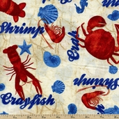 Bayshore Fabric Collection Shellfish - Nautical AVQ-11234-266
