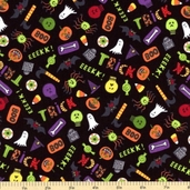Be Witched Cotton Fabric - Candy A-5714-K - Clearance