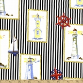 Beacon Cove Cotton Fabric - Black 39011-18