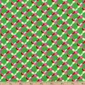 Beatrice Weave Pattern Cotton Fabric - Green