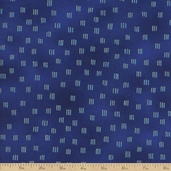 Beau Monde Hatch Metallic Cotton Fabric - Navy