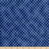Beautiful Basics Pin Dot Cotton Fabric - Blue