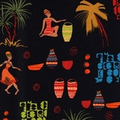 Beauty Noir Cotton Fabric