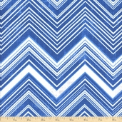 Bella Casa Chevron Cotton Fabric - Blue