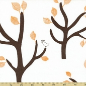 Bella Tree Cotton Fabric - Orange 35210-2