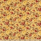 Belle Fleur Floral Cotton Fabric - Yellow 3797-60114-9