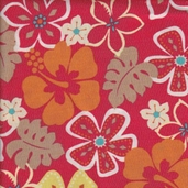 Benartex Surfin' Monkey - Floral Red