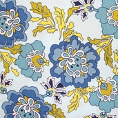 Berkeley Cotton Fabric - Aqua - CLEARANCE