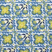 Berkeley Cotton Fabric - Blue - CLEARANCE