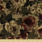 Berkshire Antique Rose Flannel Fabric - Straw 34045-1