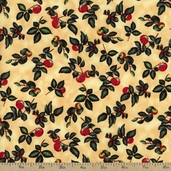 Berkshire Farm Twigs and Berries Cotton Fabric - Tan
