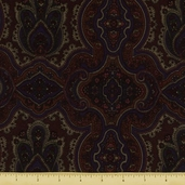 Berkshire Tapestry Flannel Fabric - Mahogany 34046-3