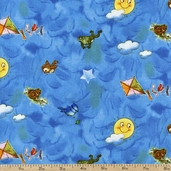 Best Friends Sky Toss Cotton Fabric - Blue