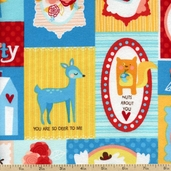 Betty the Yeti Love Flannel Fabric - Summer AIBF-13663-193 SUMMER