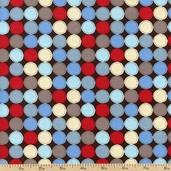 Big Dot Patch Cotton Fabric - Chocolate DT-2683-2C