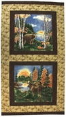 Birch Bark Lodge Cotton Fabric - Birch Panel
