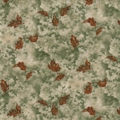 Birch Bark Lodge Cotton Fabric - Pine Green