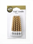 Birthday Candles - Metallic Spiral - Gold