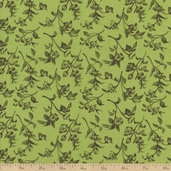 Bistro Leaves Cotton Fabric - Green