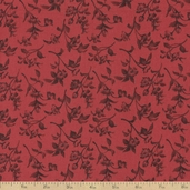 Bistro Leaves Cotton Fabric - Wine