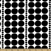 Black and White The Dotted Line Cotton Fabric - Black DE#7661-C
