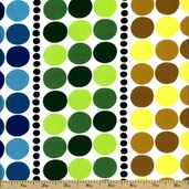 Black and White The Dotted Line Cotton Fabric - Multi-Color DE#7661-A