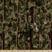 Black Bear Lodge Flannel Forest Cotton Fabric - Green