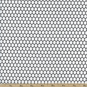 Black Tie Boogie Chickenwire Cotton Fabric - Black