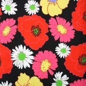 Bloomin' Beauties Flannel Fabric - Black