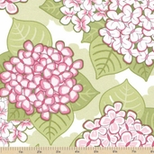 Blooming Butterflies Cotton Fabric - Pink
