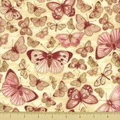 Blooming Hearts Cotton Fabric - Rose Gold J7017-63G