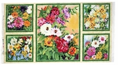 Blooming Spring Cotton Fabric - Floral Panel