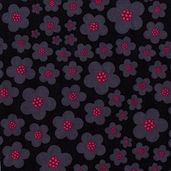 Blossoms from Michael Miller Fabrics - Black