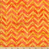 Bobbins & Bits Batiks Chevron Cotton Fabric - Orange