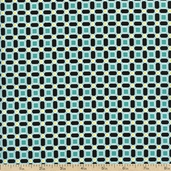 Bohemia Link Pattern Cotton Fabric - Teal