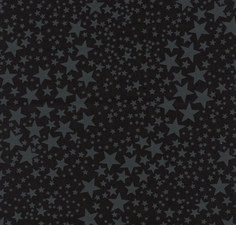 Boo Basics Shooting Stars Cotton Fabric - Black
