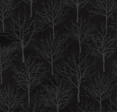 Boo Basics Tree Cotton Fabric - Black