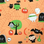 Boo! To You! Fabric - Orange