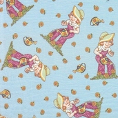 Booster Club Garden Party Cotton Fabric  - Lake-CLEARANCE