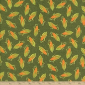Bountiful Harvest Corn Cotton Fabric - Green