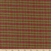 Bountiful Harvest Plaid Yarn Dye Cotton Fabric - Green