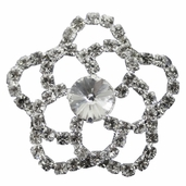 Bouquet Accents Pin - Floral - Rhinestone
