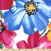 Bouquet Beauties Cotton Fabric - Large Summer Floral
