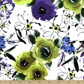Bouquet Beauties Cotton Fabric - Meadow J8685-170