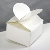 Box Heart Top - Pearl White - 6 Pkg Bundle, 72 Pcs
