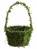 Boxwood Arificial Moss Covered Basket 13.5 inch tall