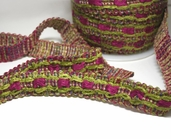 Braided Trim - Fuchsia/ Lime-CLEARANCE