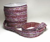 Braided Trim - Lilac/Gray/Maroon - Clearance